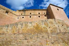 Mora de Rubielos Teruel Muslim Castle in Aragon Spain - stock photo