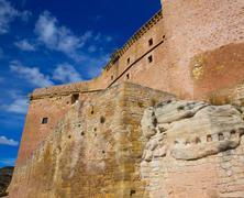 Mora de Rubielos Teruel Muslim Castle in Aragon Spain - stock photo