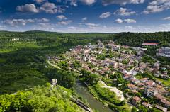 Veliko Tarnovo, the historical capital of Bulgaria - stock photo