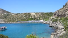 Ladikos Beach, Rhodes, Greece Stock Footage