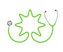 Stethoscope in shape of star - stock illustration