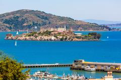 San Francisco Alcatraz Penitenciary California Stock Photos