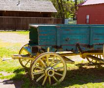 California Columbia carriage in an old Western Gold Rush Town Stock Photos