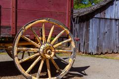 California Columbia carriage in an old Western Gold Rush Town - stock photo