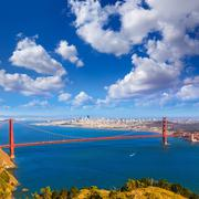 San Francisco Golden Gate Bridge Marin headlands California Stock Photos
