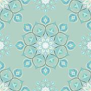 Colored mandala pattern with beautiful ornament - stock illustration