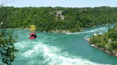 Niagara aero car riding over niagara whirlpool 4K UHD Stock Footage