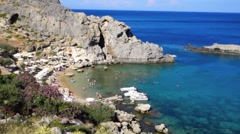 St Pauls Bay, Rhodes, Greece Stock Footage