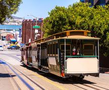 San francisco Hyde Street Cable Car California - stock photo
