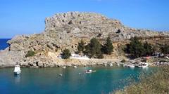 St Pauls Bay, Rhodes, Greece Stock Footage