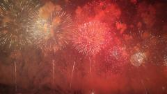 Grandiose celebratory fireworks in the night sky. Stock Footage