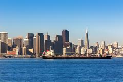 San Francisco skyline in California from Treasure Island Kuvituskuvat