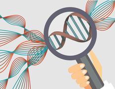 Genetics illustration.Human genome research vector illustration. - stock illustration