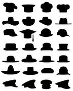 Caps and hats Stock Illustration