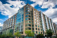 Stock Photo of Modern building in the West End, Washington, DC.