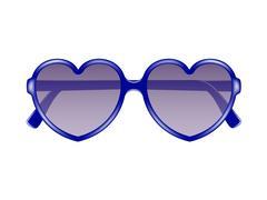 Sun glasses in shape of heart Piirros