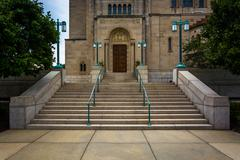 Entrance to the Basilica of the National Shrine of the Immaculate Conception, Stock Photos