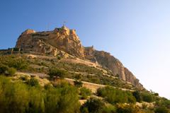 Stock Photo of Alicante Santa Barbara Castle in Spain