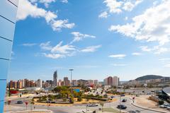 Benidorm Alicante cityscape skyline vacation destination Stock Photos