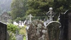 Graveyard Site Glendalough Wicklow Ireland Stock Footage
