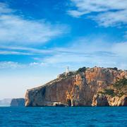 Stock Photo of Cabo de la Nao Cape lighthouse in mediterranean sea Alicante