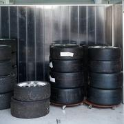 Formula One 1 race tires and wheels Kuvituskuvat