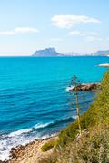 Ifach Penon view from Moraira alicante in Mediterranean Stock Photos
