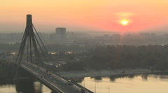 Kyiv bridge dawn 005 fullHD Stock Footage