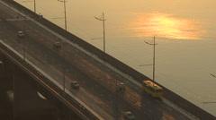Kyiv road dawn 006 fullHD Stock Footage