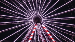 France - Honfleur -   Extreme Close Up of Ferris Wheel Stock Footage