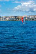 Stock Photo of Santa Pola Alicante view from Mediterranean sea