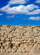 Tabarca Island battlement fort masonry wall detail - stock photo