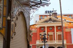 Stock Photo of Castellon Teatro Principal theatre facade in Valencia province