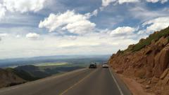 4K driving along very scenic Pikes Peak roadway Stock Footage