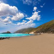 California Pfeiffer Beach in Big Sur State Park - stock photo