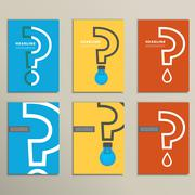 Stock Illustration of Flat vector question mark with a light bulb