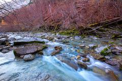 Arazas river Valle de Ordesa valley Pyrenees Huesca Spain - stock photo
