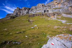 Circo de Soaso in Ordesa Valley Aragon Pyrenees spain - stock photo