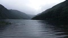 Glendalough Lake Wicklow Ireland Stock Footage