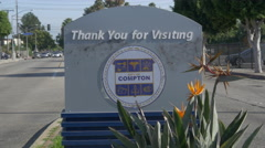 Thank You for Visiting Compton Sign Stock Footage