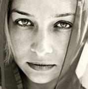 Artistic portrait of woman with beautiful eyes Stock Photos
