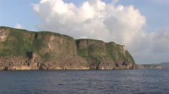 Stunning view of the Island of Guam Stock Footage