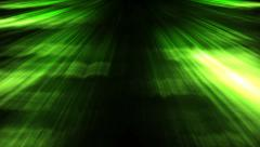 Green rays of light Stock Footage