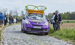 The Car of Vision Plus - Paris Roubaix 2014 - stock photo