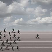 Winning The Race - stock illustration