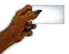 Werewolf Blank Card Stock Illustration