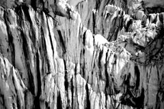 Black and white ice cliff in Arctic Stock Photos