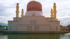 Kota Kinabalu City Mosque, Reflected in the Bay Stock Footage
