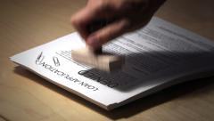 Loan Application is Denied Stock Footage