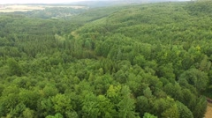 aerial of beautiful green forest, Czech Republic landscape - stock footage